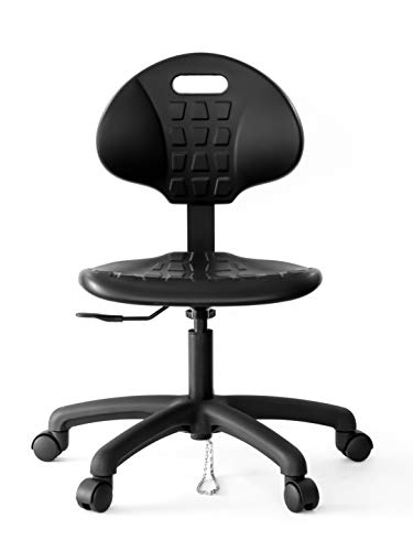 CHAIR MASTER Table Height Chair ESD Anti Static - Ergonomic Polyurethane Chair. Seat Ht Adj. (16'-21') Heavy Duty Easy to Clean. Designed specifically for Laboratory and Cleanroom environments.