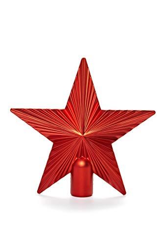 HEITMANN DECO Christbaumspitze Weihnachtsstern aus Kunststoff - Weihnachtsbaumspitze Weihnachtsdeko - Rot