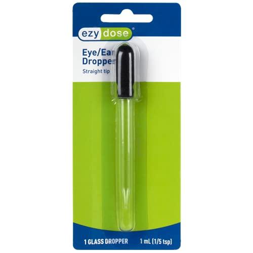 Ezy Dose Ear and Eye Medicine Dropper | For Liquid & Essential Oils | 1mL Capacity | Glass