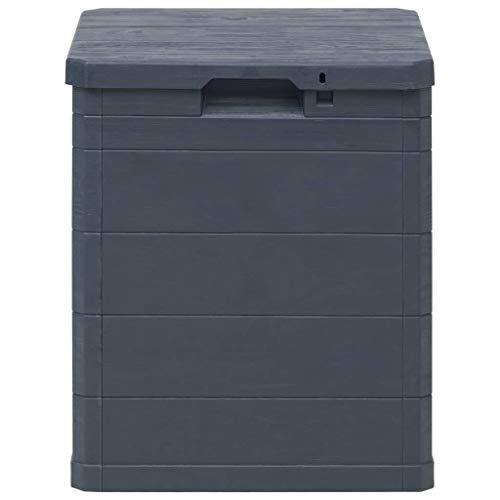 Nishore 90 L Garten-Aufbewahrungsbox Auflagenbox Gartenbox Abschlie?bar Geeignet für den Innen- und Au?enbereich Garten 42,5 x 44 x 50 cm Anthrazit
