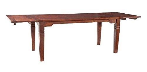 MASSIVMOEBEL24.DE Kolonialstil Esstisch 160-200/240x90 Akazie massiv Möbel Oxford SUNO #120 mit 2 Ansteckplatten