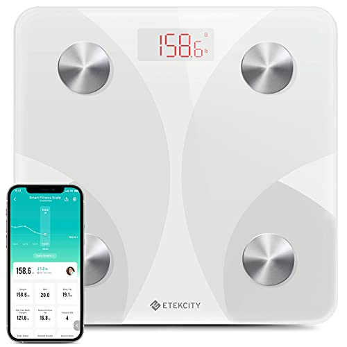 Etekcity Scale for Body Weight, Smart Digital Bathroom Weighing Scales with Body Fat and Water Weight for People, Bluetooth BMI Electronic Body Analyzer Machine, 400lb (Health and Beauty)