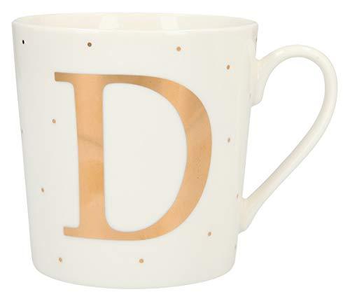 Depesche 5909.029 Tasse mit Henkel, aus Porzellan, 300 ml, mit Aufschrift, D, Mehrfarbig