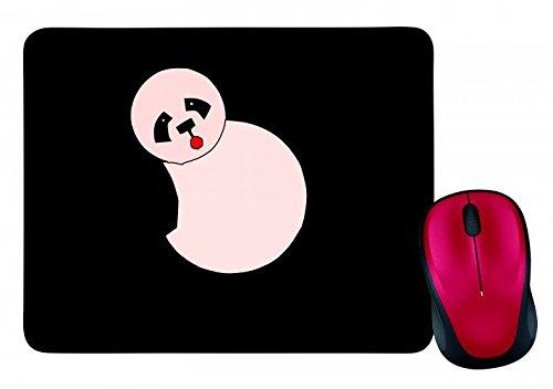 Alfombrilla para ratón con diseño de oso panda y teddy feliz, de peluche, oso de peluche, tanzas, arañas, animales, huevos en negro, blanco, azul, rosa, amarillo, rojo y verde, color Negro  Schwarz