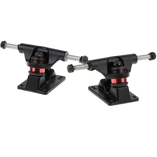 perfk 2 pcs 150mm Longboard Achsen Set - Skateboard Ersatzteile - Schwarz