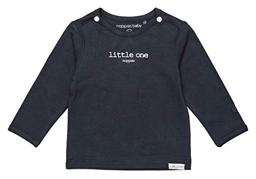 Noppies Unisex Baby U Tee Ls Hester Text T Shirt, Charcoal, 74 EU