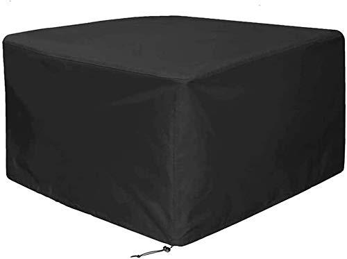 KDR – Funda de mesa cuadrada para muebles de jardín, resistente al agua, resistente al agua, para muebles de jardín, resistente al viento, anti-UV, para patio, exterior (135 x 135 x 75 cm)