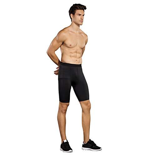 Niksa 3 Pack Compression Shorts Men Quick Dry Black Performance Athletic Shorts-XL