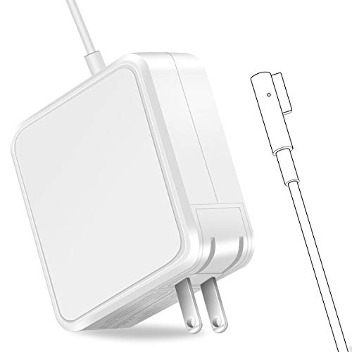 Mac Book Air Charger, AC 45W Magnetic L-Tip Power Adapter Charger Replacement Compatible for MacBook Air 11/13 Inch (Before Mid 2012)