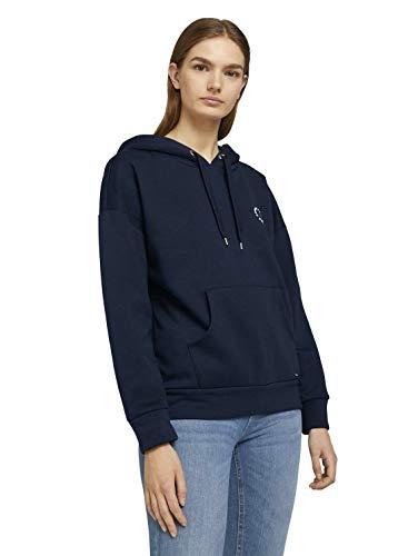 TOM TAILOR Denim Damen 1026451 Hoodie Sweatshirt, 10360-Real Navy Blue, XL