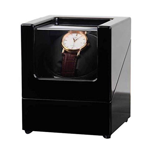 CCAN Rebobinador de Reloj único automático Rebobinador de Reloj Caja de Reloj de Cuerda automática giratoria de Madera y Motor Extremadamente silencioso Interesting Life