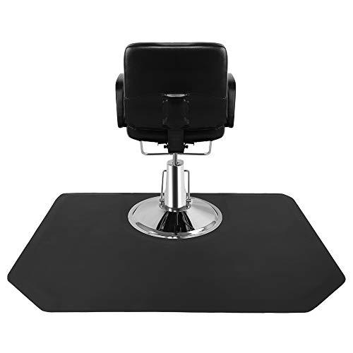 "Mssip 4 ft. x 5 ft. Salon & Barber Shop Chair Anti-Fatigue Floor Mat - Black Rectangle - 1/2"" Thick"