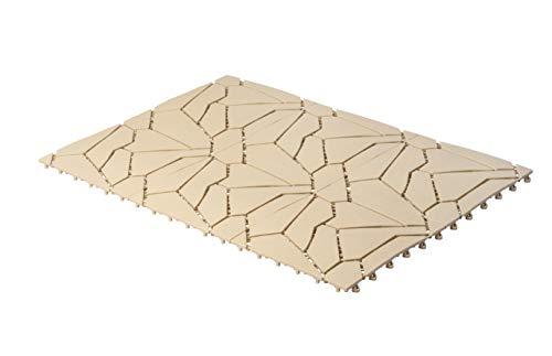 UPP Outdoor Gartenplatten Klickfliesen 30 x 30 cm | Wetterfester Bodenbelag für Balkon, Garten & Terrasse | Einfach & Schnell verlegt [6 Stk, Naturstein]
