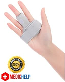 The Original MedicHelp Adjustable Trigger Finger Splint for Alleviating Finger Locking, Popping, Curved & Pain Relief from Stenosing with Innovative Foam for Maximum Comfort | Designed in The UK