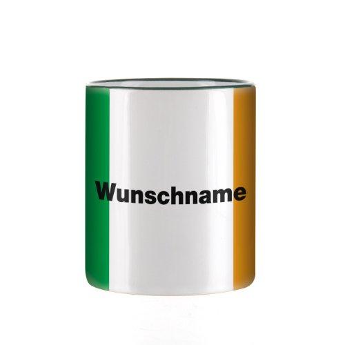 Herz & Heim® Tasse mit Wunschnamen und Flagge - Irland -
