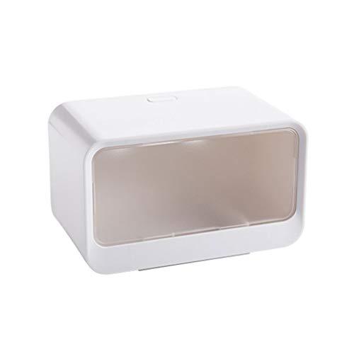 Portarrollos Tejido resistente al agua caja de plástico titular de papel higiénico montado en pared de baños tubo del rollo de papel Caja de almacenamiento rollo organizador del estante portarrollos p