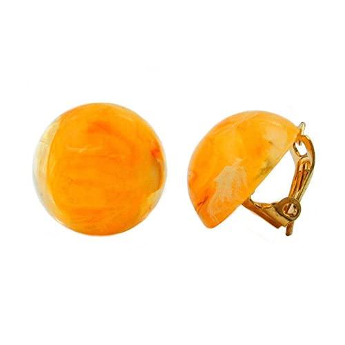Clip, 18 mm, giallo-arancione/bianco marmorizzato