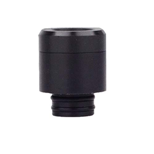 Lingketech Resin 510 Drip Connector tip Anti spit Back with Screen Separable Adaptor (USA Stock Arrive in 3-7 Days)-Black