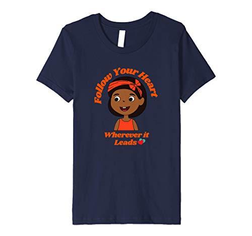 Kids Follow Your Heart Wherever It Leads Inspirational for Girls Premium T-Shirt