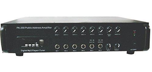 Dynatech PA250 250Watts RMS 6 microphone input PA amplifier