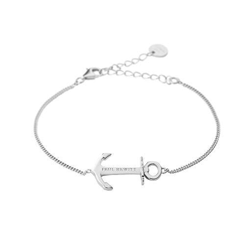PAUL HEWITT Bracelet Femme Anchor Spirit Plated - Cadeau Femme, Bracelet chaîne Femme en Argent 925 avec Pendentif Ancre (plaqué Argent)