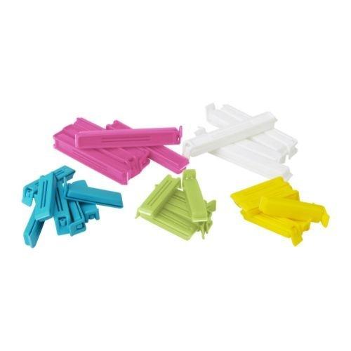 IKEA BEVARA Verschlussclip-Set in verschiedenen Farben und Größen, 30Stück, multi, 3-Pack