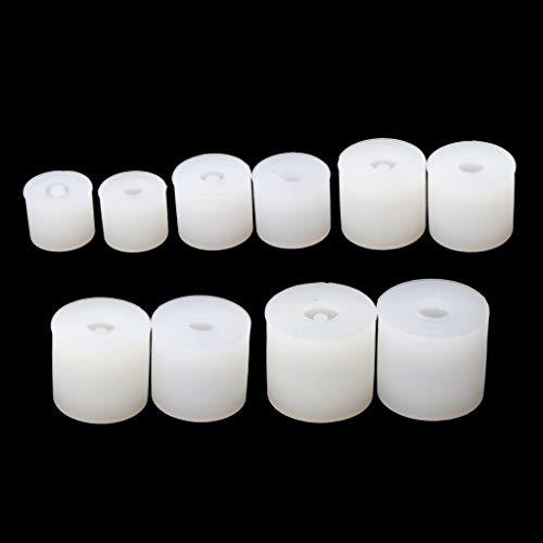 BullBallBoll 20 moldes cuadrados de silicona para hacer joyas, moldes de resina
