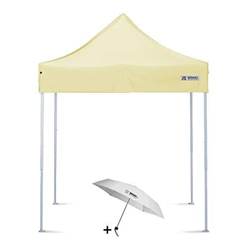 Faltpavillon + Freier Regenschirm (2x2m, Beige)