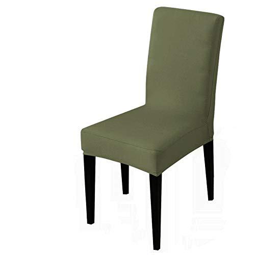 UIRK Esszimmer Stretch Stuhlhussen,Modern Dining Chair Protector Armeegrün Einfarbig Klassisch Abnehmbare Waschbare Elastische Stuhlsitzbezüge Für Hotelhochzeitsbankett, 1 Pc/Packung