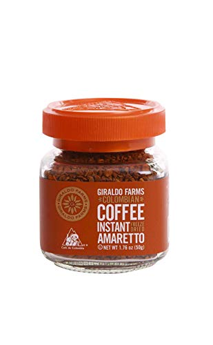 100% Colombian Coffee Freeze Dried - Amaretto- 1.76 Oz