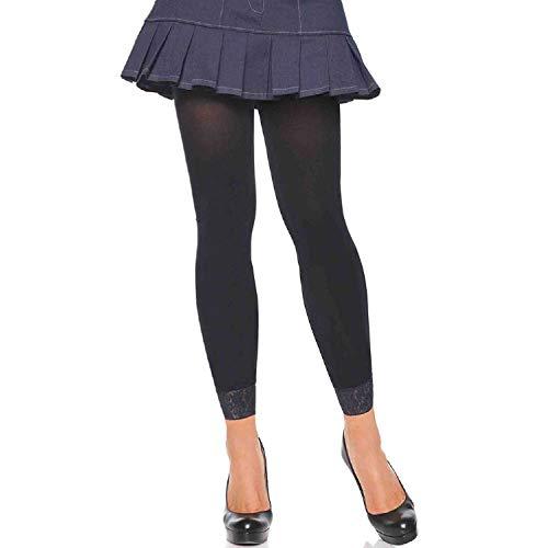 Leg Avenue ondoorzichtige 3/4 panty zonder voet O/S, 1 stuk