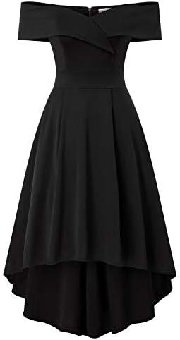 Skater Dress for Women Short Sleeve Off Shoulder Formal Homecoming Vintage A Line Dresses with product image