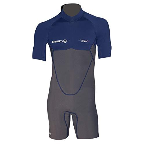 Beuchat Unisex-Adult Atoll Kurzer Anzug dorsal Reißverschluss, blau, Small