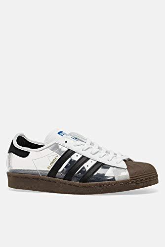 adidas Originals Superstar 80s Zapatillas, Transparente (FTWR Blanco/Core Black/Gum5.), 43 EU
