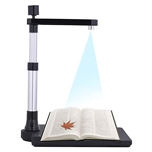 Buy Portable Overhead USB Book & Document Camera Auto-Flatten & Deskew Tech, Capture Size A3, Multi-...