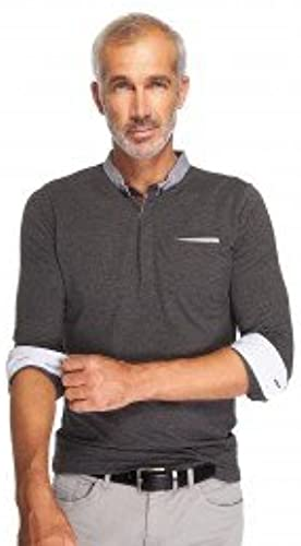 Father and Sons - Polo homme de couleur gris coupe slim