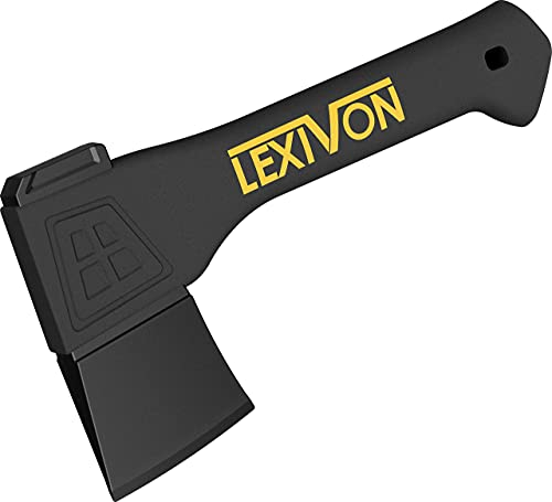 LEXIVON V9 Camping Hatchet, 9-Inch Axe | Ergonomic Grip, Lightweight Fiber-glass Composite Handle | Protective Carrying Sheath Included (LX-V9)