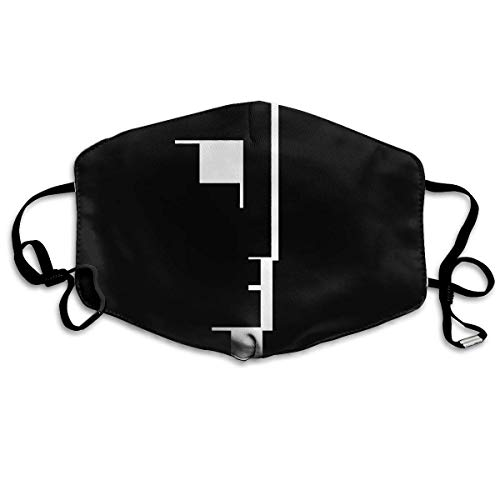 Mundschutz Gesichtsschutz Unisex Reusable Nose Face Cover with Bauhaus 'Big Logo' Mouth Cover Face Cover with Adjustable Earloops