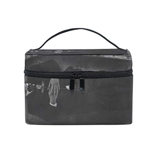 GRATNNA Cosmetic Travel Bag Dead Mans Body Cradled Casket Hole Portable Printing Toiletry Case Makeup Bag For Girls Womens