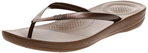 Fitflop Iqushion Ergonomic Flip-flops, Damen Zehentrenner, Braun (Bronze 012), 39 EU (6 UK)