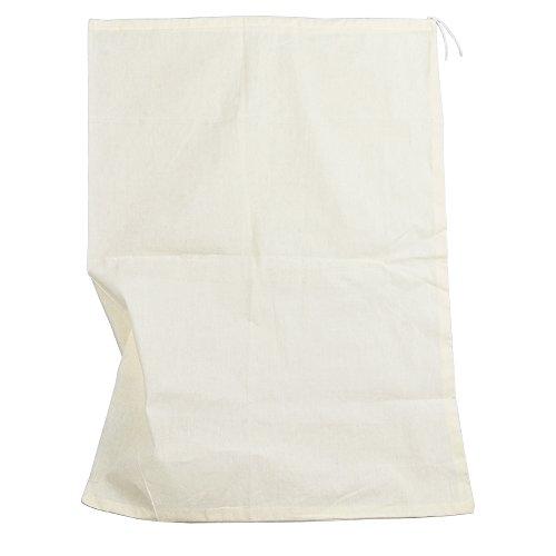 Pinfox Reusable Cotton Muslin Straining Bag Fine Mesh Food Strainer Filter Bags for Nut Milk, Juice, Tea, Cheesecloth, Yogurt, Home Brewing, Hop Bags (13.78' x 9.84')