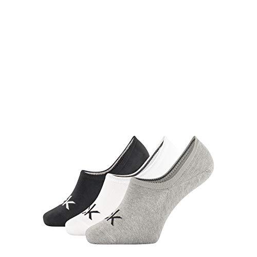 Calvin Klein Socks Herren Eca343 Sneakersocken, Schwarz (Black 00), 40/46 (Herstellergröße: 40-46) (3erpack Calcetines, Gris, Talla única para Hombre