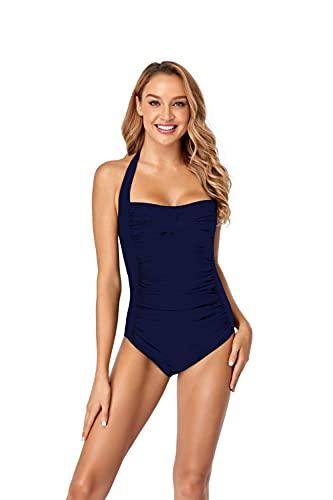 MLLM Ropa de Playa Bañador señora,Traje de baño con Revestimiento sólido, Bikini Sexy de Gran tamaño-Tibetan_3XL,Traje De Baño Dos Piezas