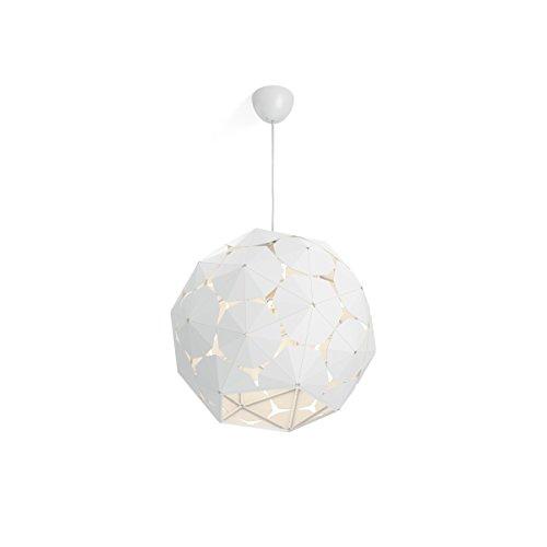 Philips Lighting White Suspension Light Philips Smart Volume Corkwood - Lámpara colgante, bombilla no incluida, no regulable, crea atractivos efectos de iluminación E27, 60 W, Blanco