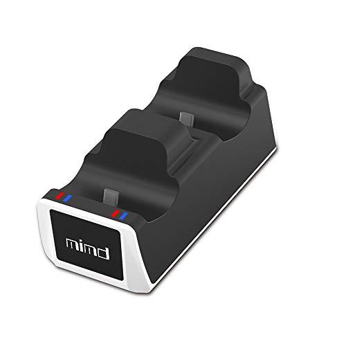 LINANNAN Producto Nuevo Controlador de Carga PS5, Playstation 5 controla Dos Asientos PS5 Juego Cargador de Controlador, Tipo de Puerta C Recarga,Negro