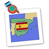 3dRose LLC The Map and Flag of Spain with The Kingdom of
