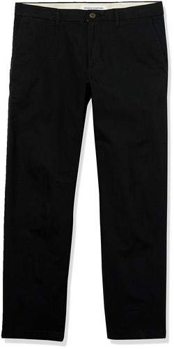 Amazon Essentials Straight-fit Lightweight Stretch Pants, schwarz, 42W x 32L