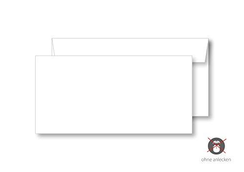 250 Briefumschläge mit Ihrem Absender, DIN lang Format, ohne Fenster, selbstklebend mit Abziehstreifen