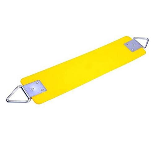 FDSJKD 2021 Asiento al Aire Libre EVA Accesorios de Swing de Servicio Pesado con Metal Anillo Triple de Seguridad y Salud fácil de ensamblar la modernización y Duradero (Color : Yellow)
