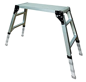 Metaltech 30.75 in x 11.75 in Adjustable Portable Work Platform with a 300 Pound Load Capacity E-PWP7101AL